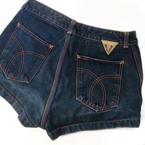 Pants - Pinup High Waist Jean Shorts
